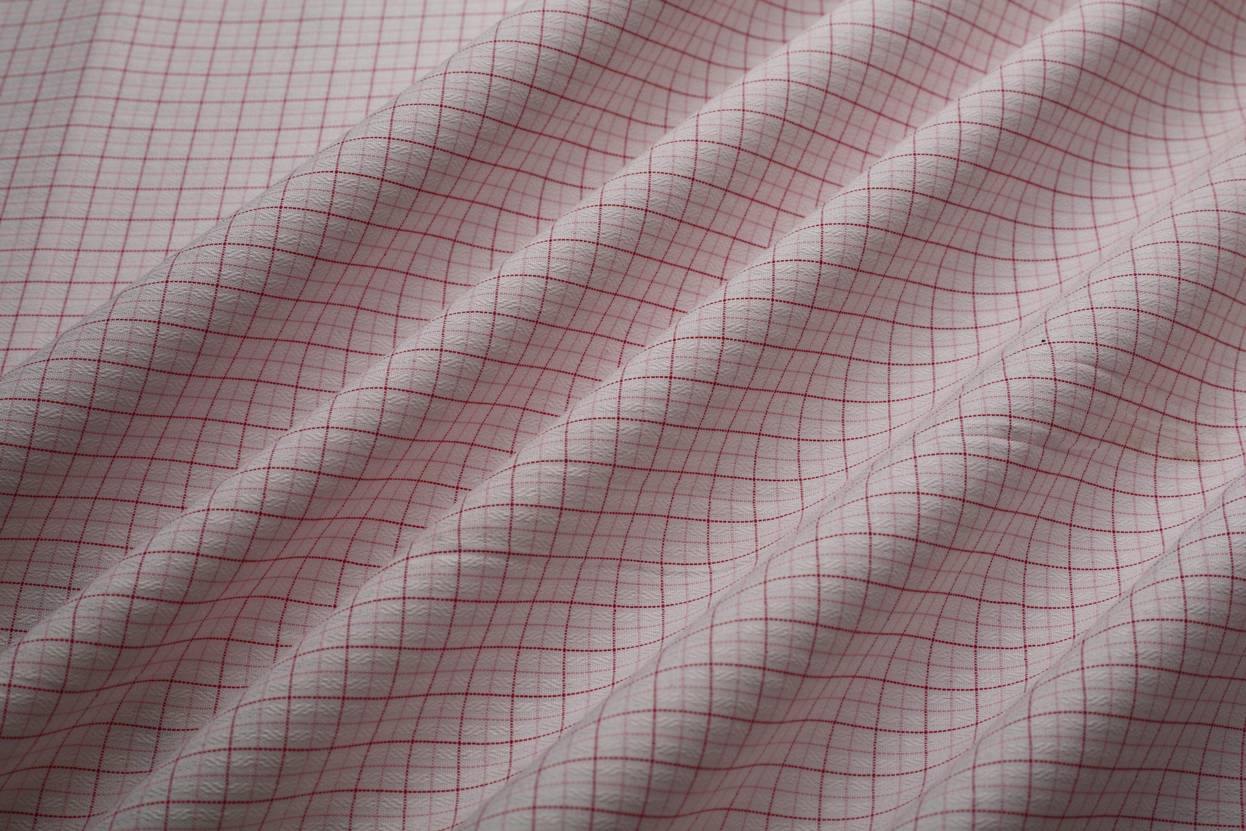 dobby check shirt fabric