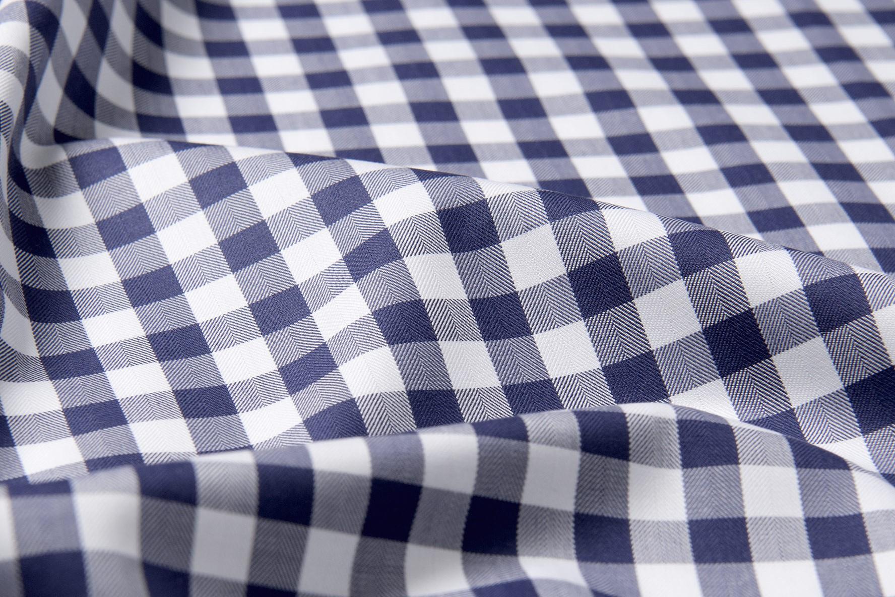 herringbone check shirt fabric