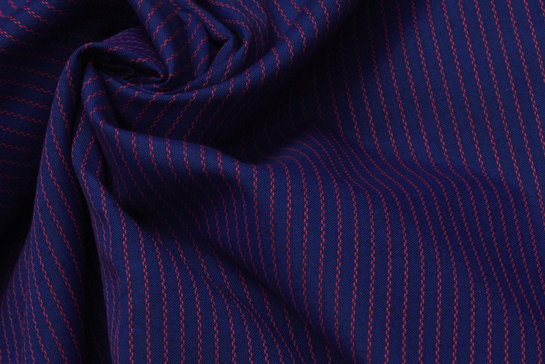 poly cotton shirting stripes